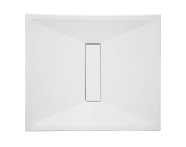 57730027000 - Slim 90x80 cm Dikdörtgen Flat(Gömme), Akrilik Gider Kapağı