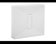 57740011000 - Slim 90x80 cm Dikdörtgen Monoblok, Krom Gider Kapağı, Sifon