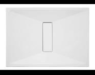 57760011000 - Slim 110x80 cm Dikdörtgen Flat(Gömme), Krom Gider Kapağı, Sifon