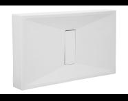 57770010000 - Slim 110x80 cm Dikdörtgen Monoblok, Akrilik Gider Kapağı, Sifon