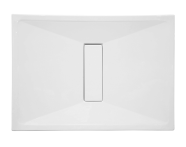 57780010000 - Slim 110x80 cm Dikdörtgen Sıfır Zemin, Akrilik Gider Kapağı, Sifon