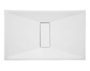 57790011000 - Slim 130x80 cm Dikdörtgen Flat(Gömme), Krom Gider Kapağı, Sifon
