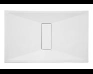 57790026000 - Slim 130x80 cm Dikdörtgen Flat(Gömme), Krom Gider Kapağı