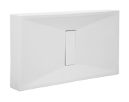57800010000 - Slim 130x80 cm Dikdörtgen Monoblok, Akrilik Gider Kapağı, Sifon
