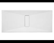 57820011000 - Slim 180x80 cm Dikdörtgen Flat(Gömme), Krom Gider Kapağı, Sifon