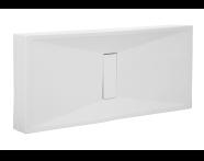 57830026000 - Slim 180x80 cm Dikdörtgen Monoblok, Krom Gider Kapağı