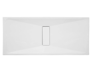 57840027000 - Slim 180x80 cm Dikdörtgen Sıfır Zemin, Akrilik Gider Kapağı