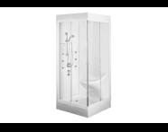 57853003000 - Lara Compact System 100x100 cm, Single  Seat, , U Wall, System 3