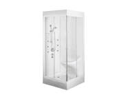 57861002000 - Lara Compact System 90x90 cm, Single  Seat, ,  L Wall, System 1