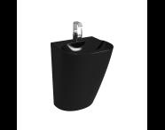 5798B770-0001 - Frame Yarı Monoblok Lavabo, Orta Armatür Delikli, Siyah (424216 Kodlu Süzgeç + Sifon Ürüne Dahildir)
