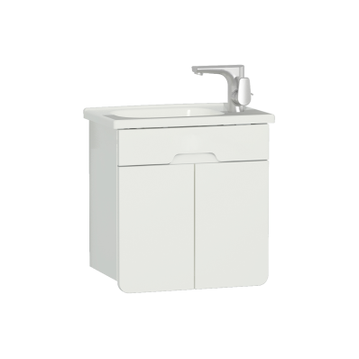 D-light Washbasin Unit, 50 cm,  Matte White & Matte White