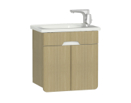 58128 - D-Light Washbasin Unit, 50 cm, Natural Oak