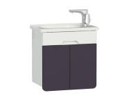 58129 - D-light Washbasin Unit, 50 cm,  Matte White & Purple