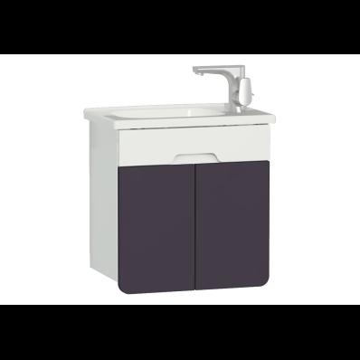 D-light Washbasin Unit, 50 cm,  Matte White & Purple