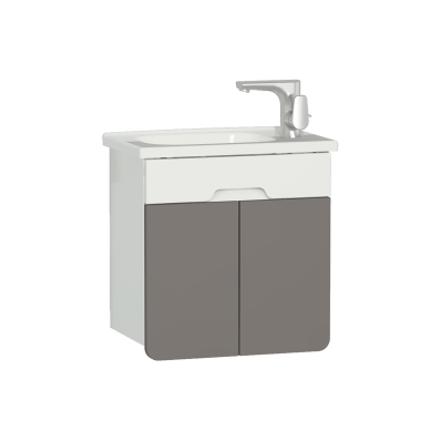 D-Light Washbasin Unit, 50 cm, Matte White & Mink