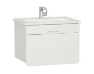 58131 - D-light Washbasin Unit, 70 cm,  Matte White & Matte White