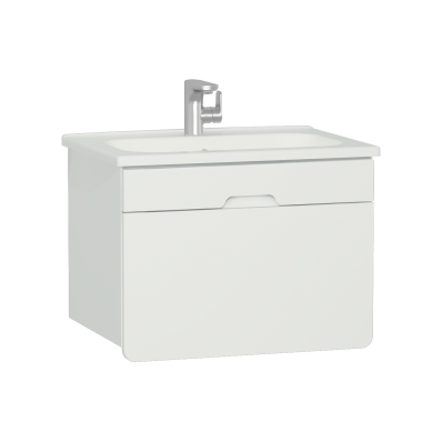 D-light Washbasin Unit, 70 cm,  Matte White & Matte White