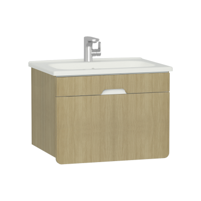 D-Light Washbasin Unit, 70 cm, Natural Oak