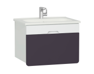 58133 - D-light Washbasin Unit, 70 cm,  Matte White & Purple