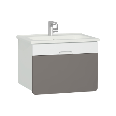 D-Light Washbasin Unit, 70 cm, Matte White & Mink