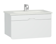 58135 - D-light Washbasin Unit, 90 cm,  Matte White & Matte White