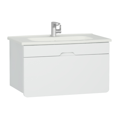 D-light Washbasin Unit, 90 cm,  Matte White & Matte White
