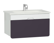 58137 - D-light Washbasin Unit, 90 cm,  Matte White & Purple