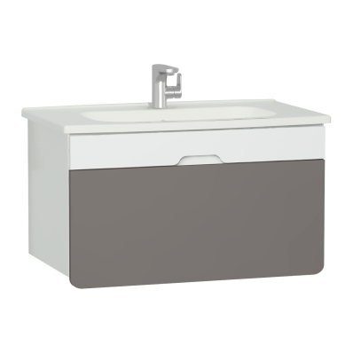 D-Light Washbasin Unit, 90 cm, Matte White & Mink
