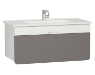 58142 - D-Light Washbasin Unit, 110 cm, Matte White & Mink