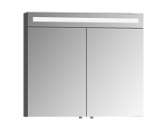 58174 - Elite Mirror Cabinet, 80 cm, Matte White