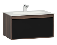 58193 - M-Line Infinit Washbasin Unit, 1 Drawer, Including Infinit Washbasin, 80 cm, Plum Tree