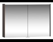 58213 - Metropole Dolaplı Ayna 100 cm,  Erik