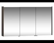 58215 - Metropole Dolaplı Ayna 120 cm,  Erik