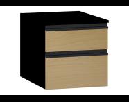 58274 - Memoria Black&White Alt modül, 40 cm, Hareli Meşe & Mat Siyah