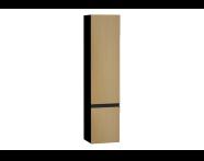 58277 - Memoria Black&White Boy dolabı, 40 cm, Hareli Meşe & Mat Siyah, sol