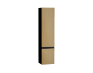58278 - Memoria Black&White Boy dolabı, 40 cm, Hareli Meşe & Mat Siyah, sağ