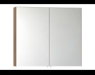 58283 - Mirror Cabinet, Classic, 100 cm, Oak