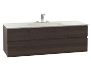 58368 - Memoria Washbasin Unit, Including Infinit Washbasin, 120 cm, Chestnut