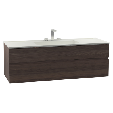 Memoria Washbasin Unit, Including Infinit Washbasin, 120 cm, Chestnut