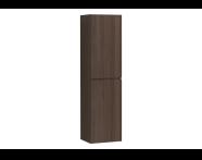 58380 - Memoria Tall Unit with Door, Matte Walnut Left
