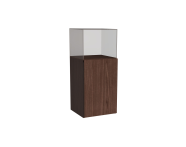 58390 - Memoria Mid Unit, with Glass Cube, Matte Walnut, Left