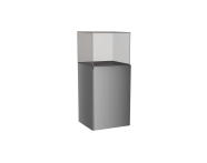 58391 - Memoria Mid Unit, with Glass Cube, Grey High Gloss, Left