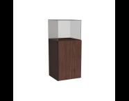 58392 - Memoria Mid Unit, with Glass Cube, Matte Walnut Right