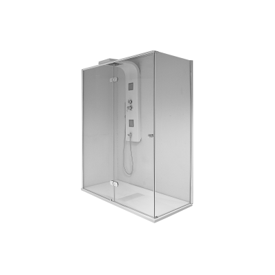 Enjoy 03 Xl Compact Shower Unit 160x75 cm Flat, U Wall, White