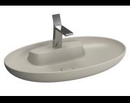 5881B420-0041 - Memoria Oval Bowl, 75 cm, Matt Taupe