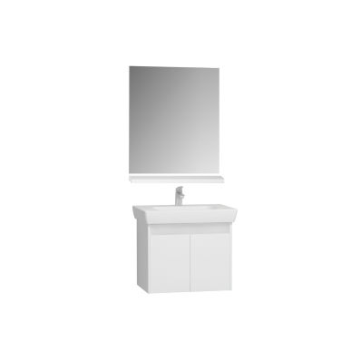 Step Demonte Washbasin unit, 85 cm + washbasin + shelf + classic mirror