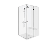 58980101000 - Roomy Shower Unit 120X080 Right, U wall, with Legs and Panels