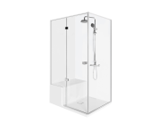 58980104000 - Roomy Shower Unit 120X080 Left, U wall, with Legs and Panels