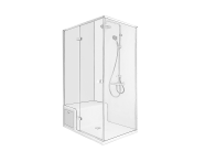 58980114000 - Roomy Shower Unit 120X080 Left U wall, Drawer, with Legs and Panels