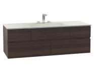 58990 - Memoria Washbasin Unit, Including Infinit Washbasin, 120 cm, Metallic Mocha